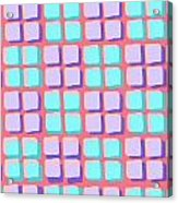 Lots Of Squares Acrylic Print by Louisa Knight