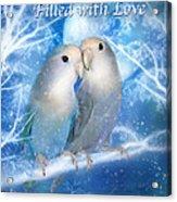 Love At Christmas Card Acrylic Print by Carol Cavalaris