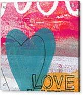 Love Life Acrylic Print by Linda Woods