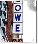 Lowe Drug Store Sign Color Acrylic Print by Andee Design