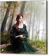 Lucid Contemplation Acrylic Print by Mary Hood