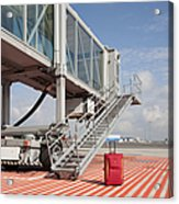 Luggage At A Gate Bridge Acrylic Print by Jaak Nilson