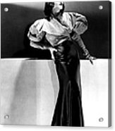 Lupe Velez Wearing Blue Satin Skirt Acrylic Print by Everett