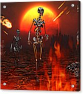 Machines Rise To Take Their Place Acrylic Print by Mark Stevenson