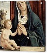 Madonna And Child - Late 15th To Early 16th Century  Acrylic Print by Giovanni Battista Cima da Conegliano
