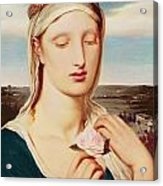 Madonna Acrylic Print by Simeon Solomon