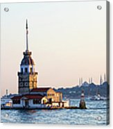 Maiden Tower In Istanbul Acrylic Print by Artur Bogacki