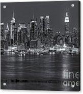 Manhattan Twilight Vii Acrylic Print by Clarence Holmes