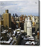 Manhattan View On A Winter Day Acrylic Print by Madeline Ellis