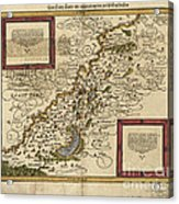Map Of Palestine, 1588 Acrylic Print by Photo Researchers