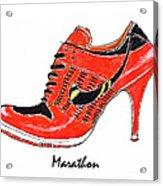 Marathon Acrylic Print by Lynn Blake-John