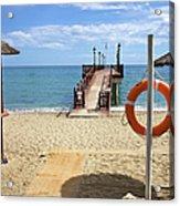 Marbella Beach In Spain Acrylic Print by Artur Bogacki