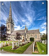 Marble Church Acrylic Print by Adrian Evans