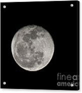 March Waning Moon Acrylic Print by Lara Ellis