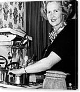 Margaret Thatcher (1925- ) Acrylic Print by Granger