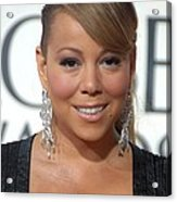 Mariah Carey Wearing Chopard Earrings Acrylic Print by Everett