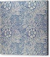 Marigold Wallpaper Design Acrylic Print by William Morris