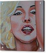 Marilyn Acrylic Print by Reneza Waddell