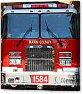 Marin County Fire Department Fire Engine . Point Reyes California . 7d15921 Acrylic Print by Wingsdomain Art and Photography