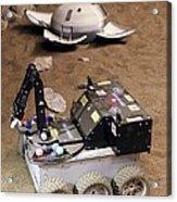 Mars Rover Testing Acrylic Print by Ria Novosti