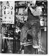 Mary Loomis, Radio School Operator Acrylic Print by Science Source