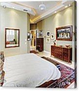 Master Bedroom Acrylic Print by Skip Nall