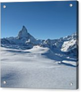Matterhorn, Switzerland Acrylic Print by Thepurpledoor