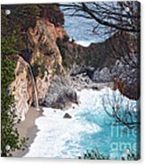 Mcway Falls In Spring Acrylic Print by Tonia Noelle
