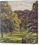 Meadow Scene  Acrylic Print by John William Buxton Knight
