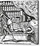 Medical Purging, Satirical Artwork Acrylic Print by