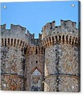 Medieval Fortress Of Rhodes. Acrylic Print by Fernando Barozza