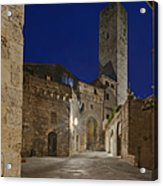 Medieval Street At Twilight Acrylic Print by Rob Tilley