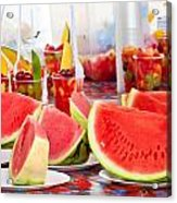 Melons Acrylic Print by Tom Gowanlock