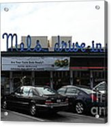 Mel's Drive-in Diner In San Francisco - 5d18013 Acrylic Print by Wingsdomain Art and Photography