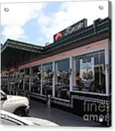 Mel's Drive-in Diner In San Francisco - 5d18041 Acrylic Print by Wingsdomain Art and Photography