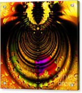Melting Pot . Gold . Horizontal Cut . S8a.s11 Acrylic Print by Wingsdomain Art and Photography