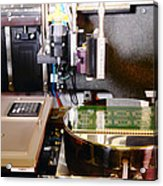 Mems Production, Flip Chip Bonding Acrylic Print by Colin Cuthbert