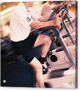Men Exercising Acrylic Print by Mark Sykes