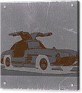 Mercedes Benz 300 Acrylic Print by Naxart Studio