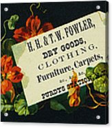 Merchant Trade Card, C1880 Acrylic Print by Granger