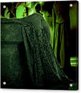 Merry Meet Green Acrylic Print by Jasna Buncic