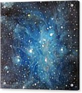 Messier 45 Pleiades Constellation Acrylic Print by Alizey Khan