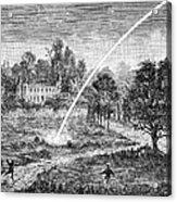Meteoric Impact, 17th Century Acrylic Print by