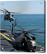 Mh-53e Sea Dragon Helicopters Take Acrylic Print by Stocktrek Images