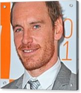 Michael Fassbender At Arrivals Acrylic Print by Everett