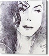 Michael Jackson - Nothing Compared To You Acrylic Print by Hitomi Osanai