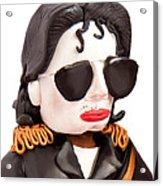 Michael Jackson Acrylic Print by Louisa Houchen