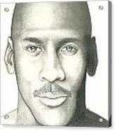 Michael Jordan Acrylic Print by Scott Williams