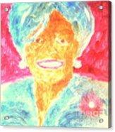 Michelle Obama 2 Acrylic Print by Richard W Linford
