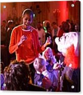 Michelle Obama Dancing With Children Acrylic Print by Everett